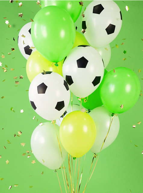 6 fotbalových balonků (30 cm) - pro party