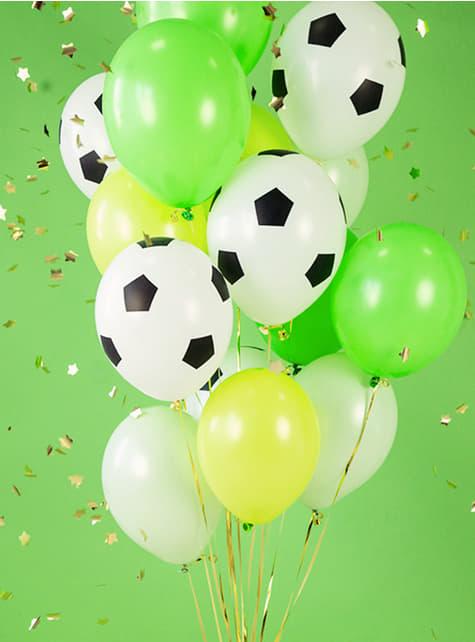 6 Fußball Luftballons (30 cm) - für Mottopartys