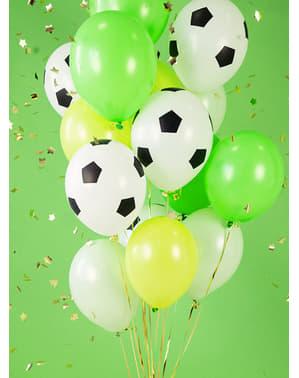 6 globos balón de fútbol (30 cm)