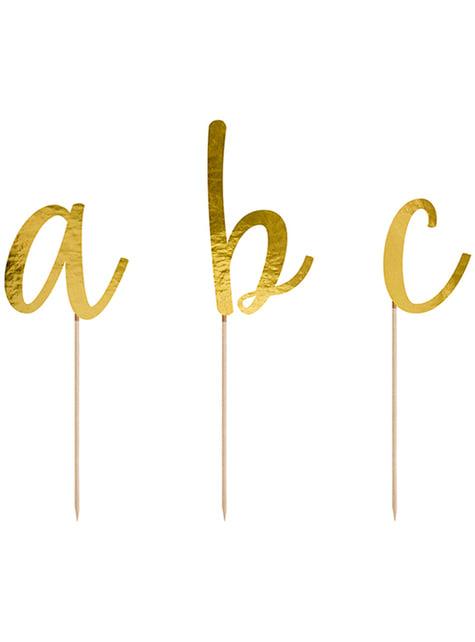 53 toppers con lettere dell'alfabeto per torte