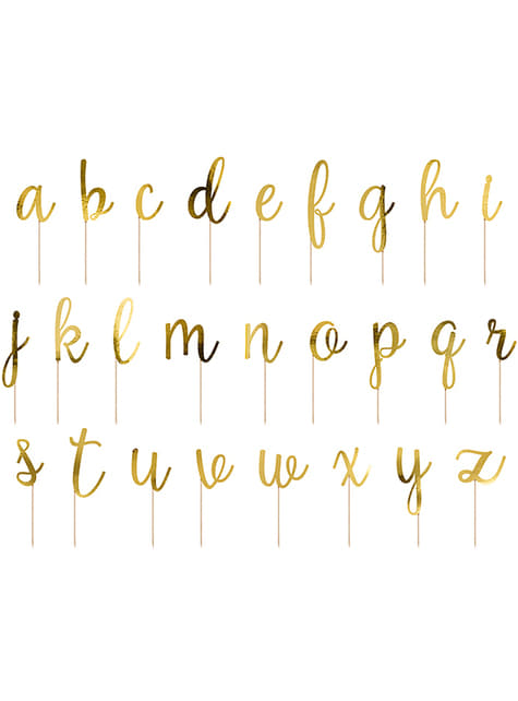 53 Alphabet Cake Toppers - for parties