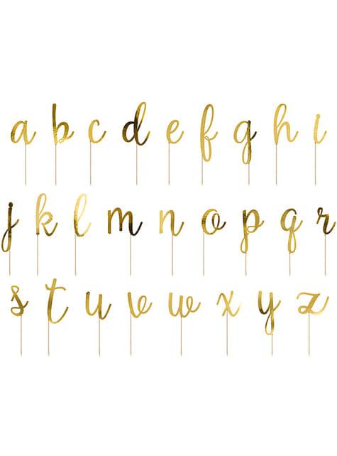 53 toppers con lettere dell'alfabeto per torte - per le tue feste