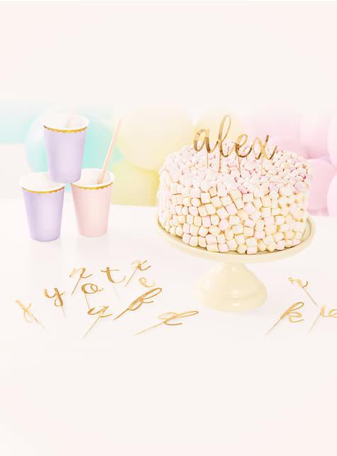 53 toppers alphabet pour gâteau - pas cher
