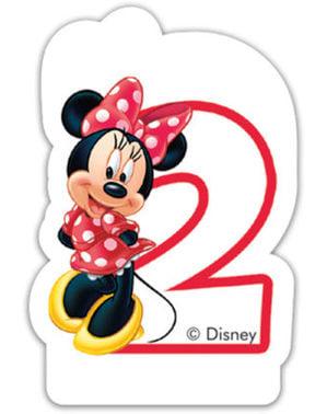 Lilin Minnie Mouse Nomor 2