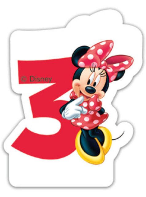 Minnie Mouse Number 3 Candle
