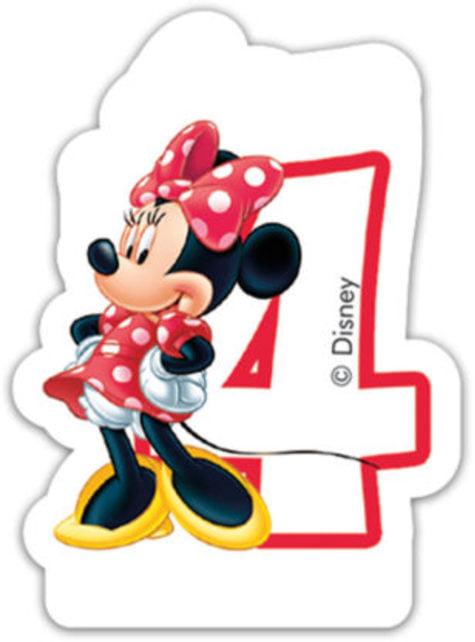 Disney Minnie Mouse stearinlys nr 4