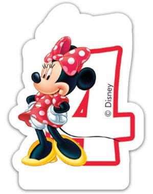 Bougie Numéro 4 Disney Minnie Mouse