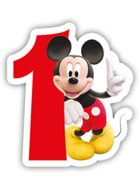 Playful Mickey Number 1 Candle - Clubhouse