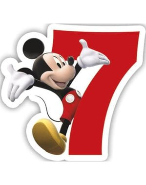Świeczka z numerem 7 Playful Mickey
