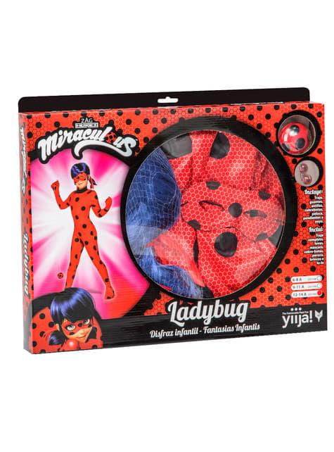 Disfraz de Ladybug con peluca para niña - Carnaval