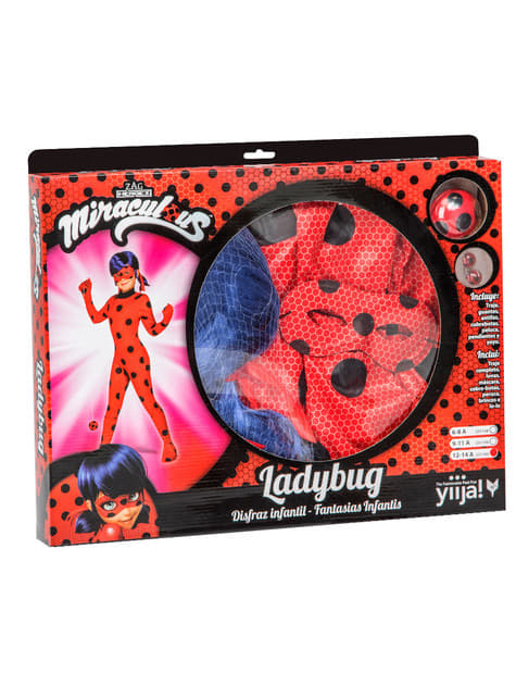 Ladybug Costume and Wig for girls