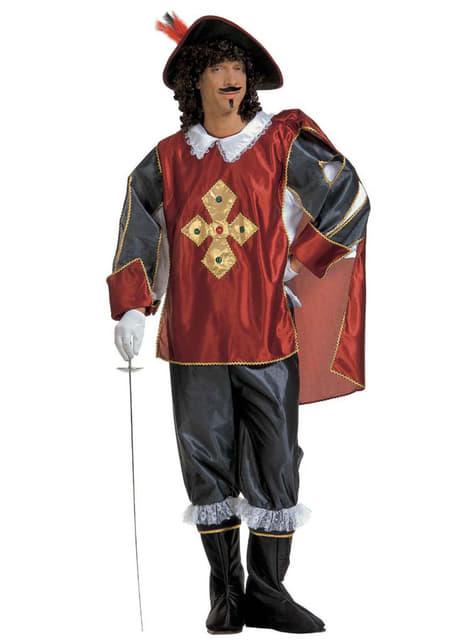 Disfraz de mosquetero elegante para hombre