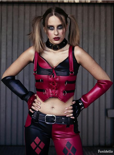 Disfraz de Harley Quinn para mujer Arkham City - original