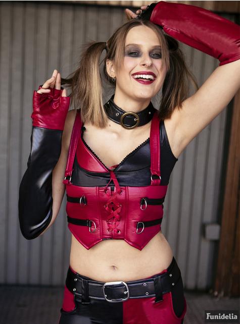 Disfraz de Harley Quinn para mujer Arkham City - traje