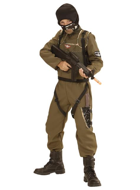 Disfraz de paracaidista de las fuerzas especiales para niño
