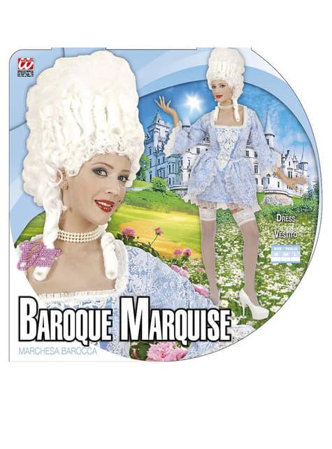 Disfraz de marquesa barroca atrevida para mujer - traje
