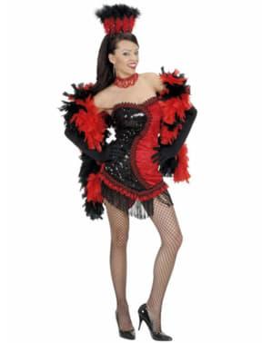 Vegas cabaret kostuum voor vrouw