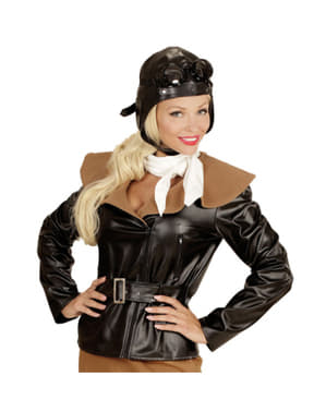 Disfraz de aviadora retro para mujer talla grande