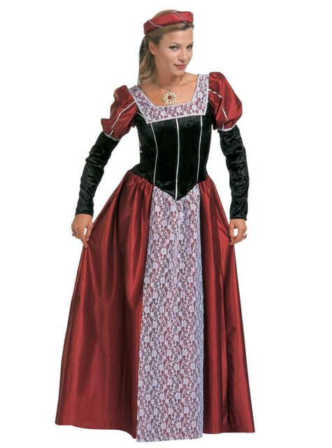 Costume da cortigiana elegante da donna taglia extra grande