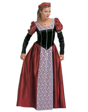 Elegant courtisane kostuum voor vrouw grote maat