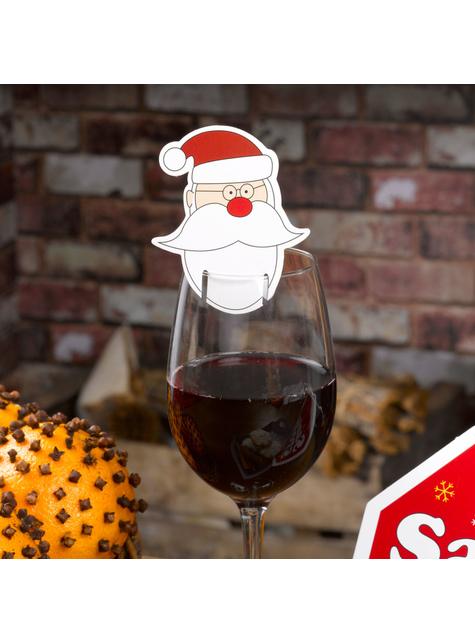 10 adornos para copas de Papá Noel