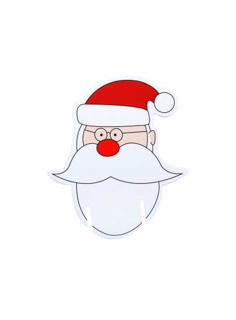 10 Weihnachtsmann Dekorationen für Gläser