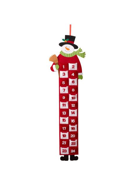 Calendario de adviento de muñeco de nieve