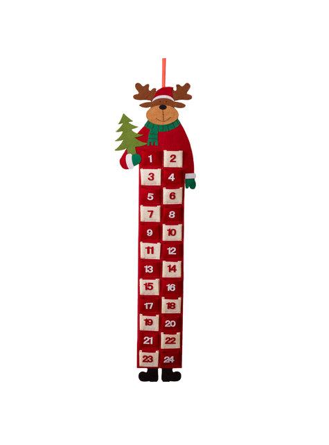 Calendário de advento de rena natalícia - barato