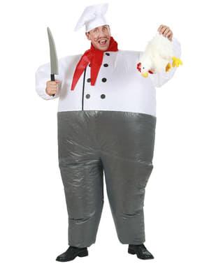 Costume gonfiabile da chef da adulto
