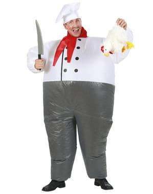 Opblaasbaar chef kostuum voor volwassenen