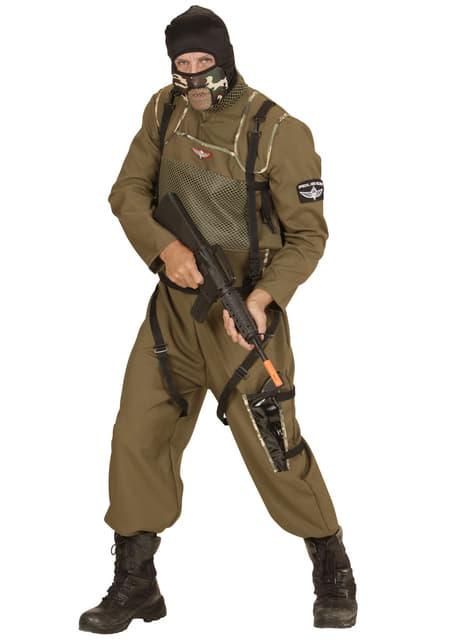 Disfraz de paracaidista de las fuerzas especiales para hombre talla grande