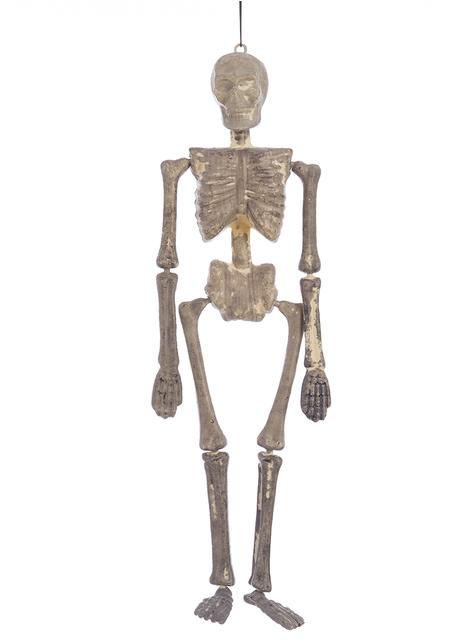 Esqueleto tenebroso colgante para Halloween (40 cm)