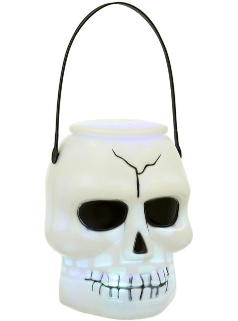 Świecący koszyk Dynia Halloween (17 cm)