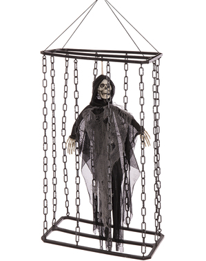 Hanging ghost encaged with light, sound and movement (70 cm)