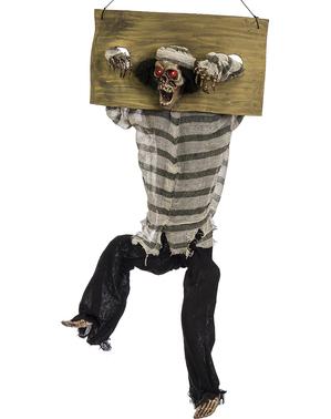 Hängande skelettfånge med ljus, ljud och rörelse (80,5 cm)
