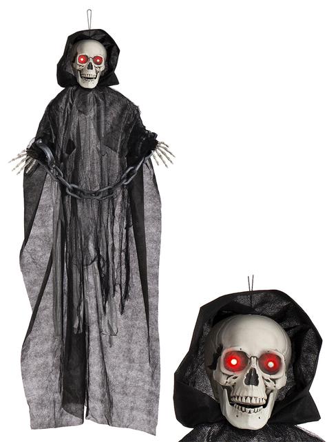 Декоративна светеща, движеща се кукла със звук– Смърт с белезници(153cm)