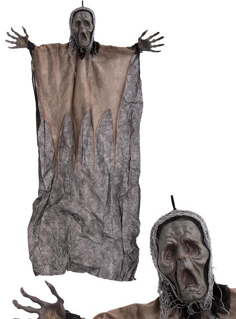 Figura colgante de zombie aterrador para Halloween (106 cm)
