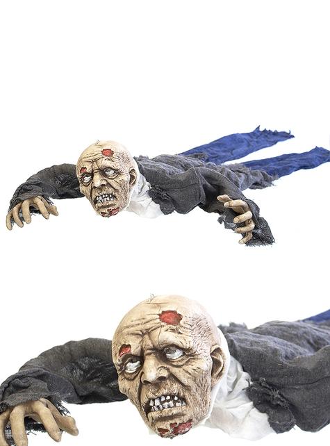 Figura decorativa de zombie arrastrado con luz, sonido y movimiento (140 cm)