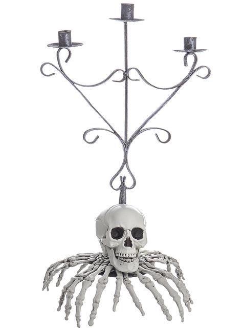 Candelabro de esqueleto con dedos para Halloween (48 cm)
