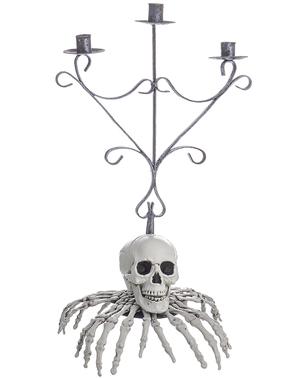 Skelett Kandelaber med fingrar för Halloween (48 cm)
