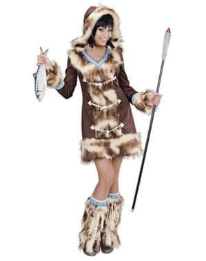 Eskimo Aikaa kostuum voor vrouw