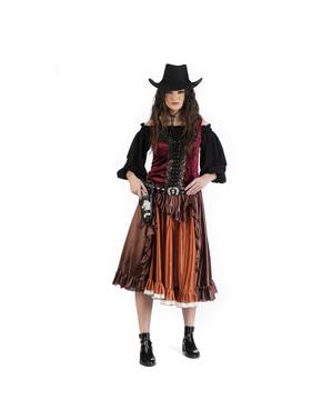 Vildt cowgirl kostume til kvinder