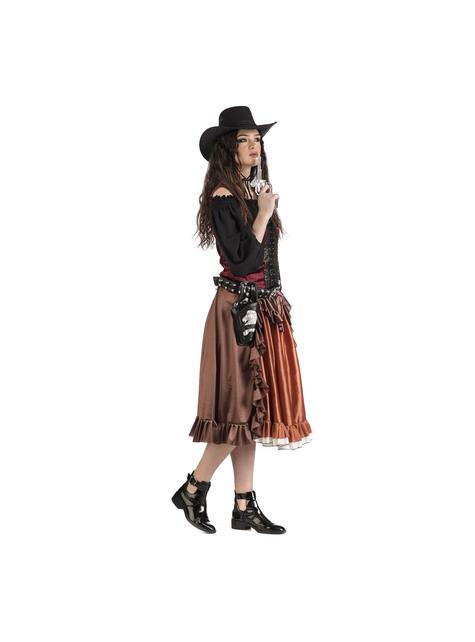 Roekeloze Cowgirl-kostuum voor dames - pak