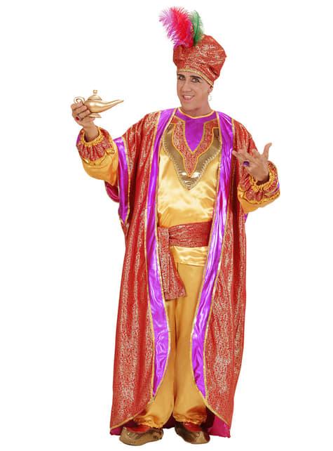 Disfraz de sultán poderoso para hombre - traje