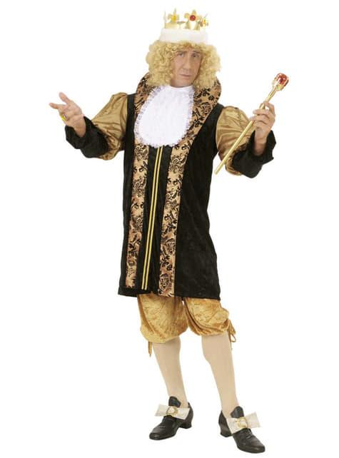 Disfraz de rey medieval para hombre talla grande