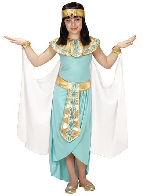 Déguisement reine égyptienne bleue fille
