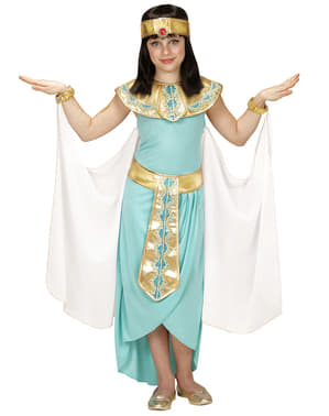 Costume da faraonessa azzurro da bambina