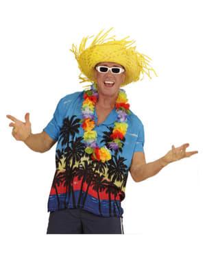 Mens Plus Size Palm Beach Hawaiian Shirt