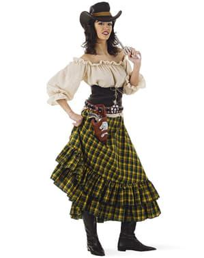 Cowgirl bandiet kostuum voor vrouw grote maat