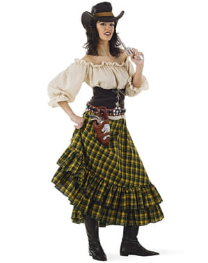 Cowgirl plus size kostume til kvinder